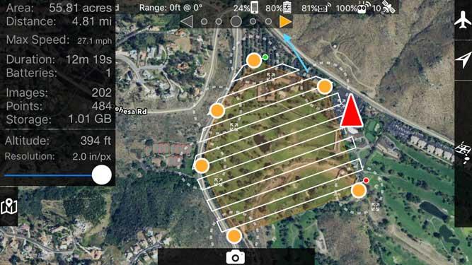 Mapeamento com Drone